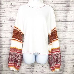 Free People Oversize Keyhole Back Thermal Crop Top